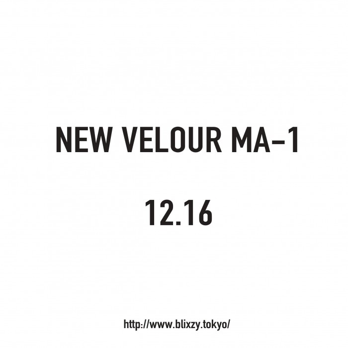 NEW VELOUR MA-1